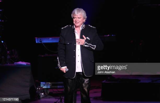 Australian vocalist Russell Hitchcock of Air Supply is shown performing live in concert on May 31 2008