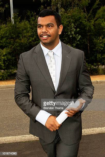 Australian Wallabies player Kurtley Beale departs Mt Druitt Local Court on June 7 2010 in Sydney Australia Beale was acquitted on a charge of common...