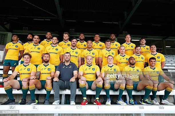 Australian Wallabies team photograph at Ballymore Stadium on September 9 2016 in Brisbane Australia