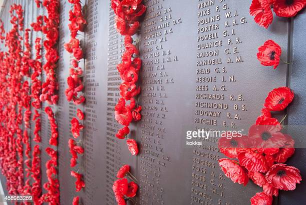 australian war memorial - wall of remembrance - memorial stock pictures, royalty-free photos & images