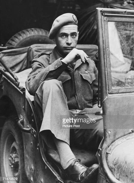 Australian war reporter Alan Moorehead during World War II 14th October 1944 Original Publication Picture Post 1797 The Men Who Send The Front Line...