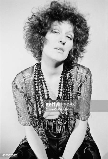 Australian writer and journalist Germaine Greer in a photoshoot for the satirical underground magazine 'Oz' UK March 1969