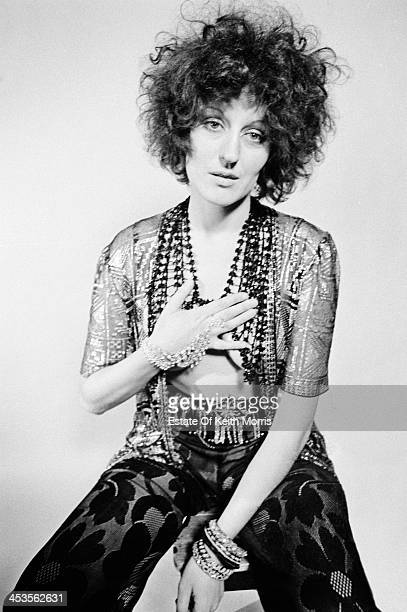 Australian writer and journalist Germaine Greer in a photoshoot for the satirical underground magazine 'Oz', UK, March 1969.