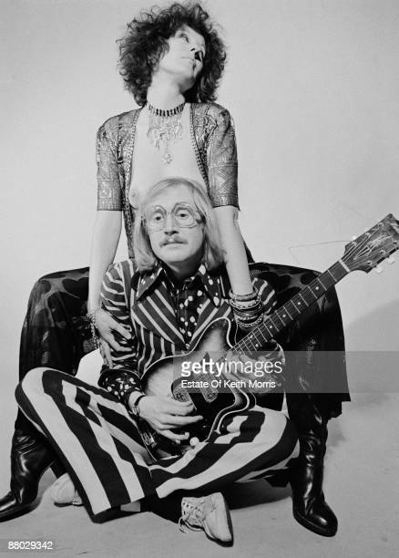 Australian writer and journalist Germaine Greer poses for the cover of Oz magazine with English musician and wit Vivian Stanshall of the Bonzo Dog...