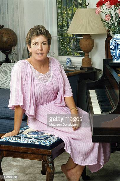 Australian-American singer, songwriter and actress Helen Reddy, circa 1990.