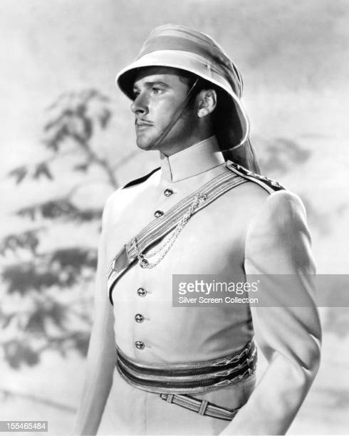 Australianborn American actor Errol Flynn as Major Geoffrey Vickers in 'The Charge Of The Light Brigade' directed by Michael Curtiz 1936