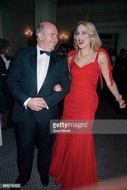 AustralianBritish author and broadcaster Clive James with American model Jerry Hall circa 1993
