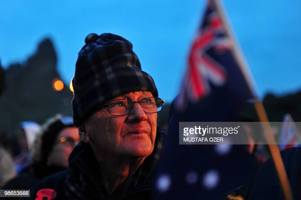 Australians attend a ceremony commemorating Anzac Day, at Anzac Cove, in western Canakkale on April 25, 2010. Anzac Day is a national day of...