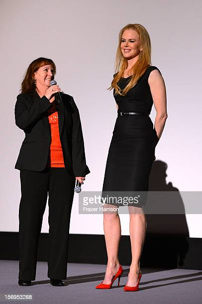 """Australians in Film Jenny Cooney introduces Nicole Kidman to the Australians In Film Screening of """" The PaperBoy"""" at Harmony Gold Theatre on November..."""