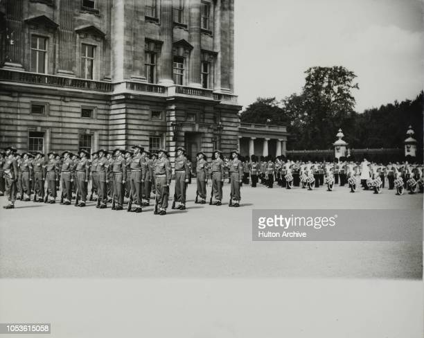Australians Take Over Guard At Buckingham Palace Members of the Army component of the Australian Coronation Contingent are today mounting Guard over...