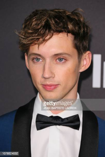 Australian/South African singer/songwriter Troye Sivan arrives for the Warner Bros and In Style 20th annual post Golden Globes party at the Oasis...