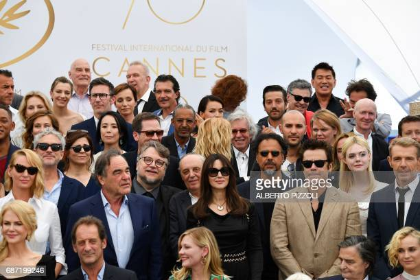 Australian-US actress Nicole Kidman, French actor Vincent Lindon, US actress Kirsten Dunst, French actor Jean-Pierre Leaud, German actress Diane...