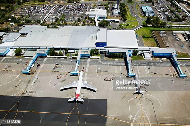 AUSTRALIA-Queensland-NORTH COAST-Cairns: Aerial View of Cairns International Airport