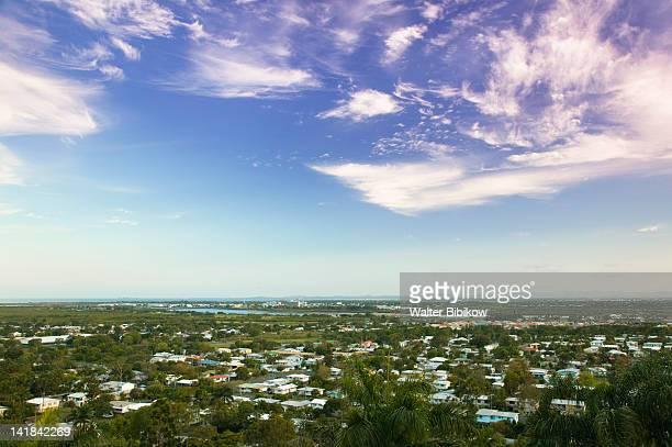AUSTRALIA-Queensland-WHITSUNDAY COAST-Mackay: View of Mt. Pleasant area at dusk