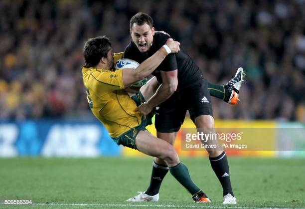 Australia's Adam AshleyCooper and New Zealand's Israel Dagg