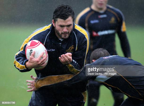 Australia's Adam AshleyCooper in action during the training session at the University of Glamorgan Treforest Caerphilly