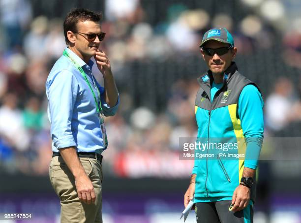 Australia's Adam Gilchrist and Australia coach Justin Langer