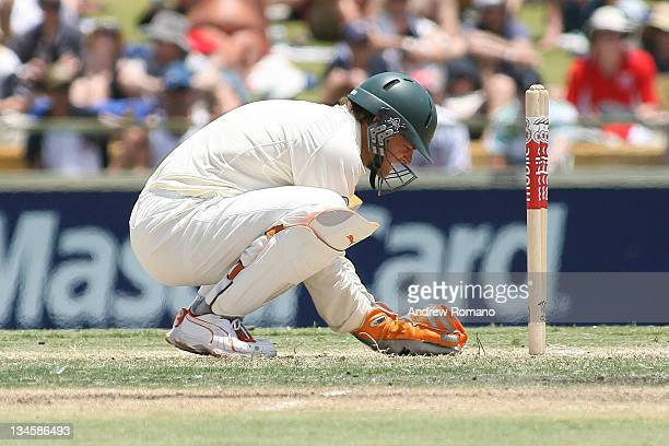Australia's Adam Gilchrist during the 3 Ashes Third Test Fourth Day at the WACA Ground in Perth Australia on December 17 2006