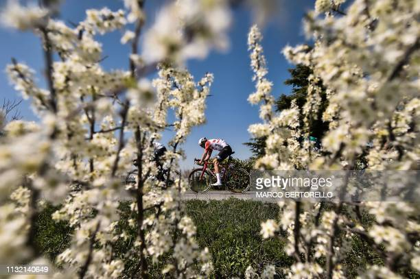 Australia's Adam Hansen rides during the oneday classic cycling race Milan San Remo on March 23 2019