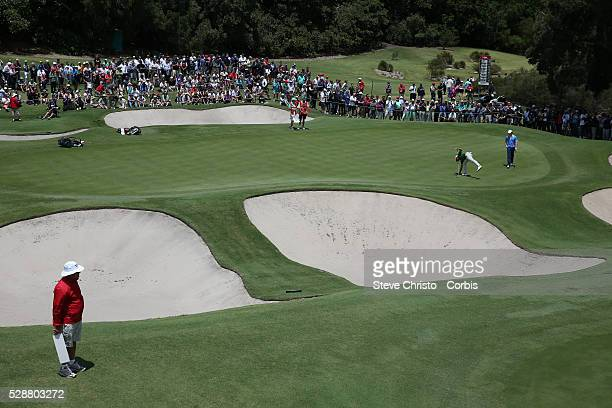 Australia's Adam Scott and Northern Ireland's Rory McIlroy on the 3rd green at the Royal Australian Golf Club. Sydney, Australia, Saturday 30th...