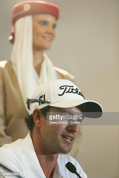 Australia's Adam Scott speaks at a press conference after his round at the Royal Australian Golf Club. Sydney, Australia, Wednesday 27th November...