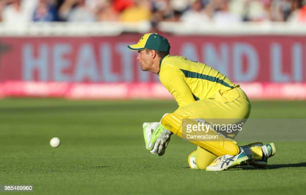 Australia's Alex Carey during the Vitality IT20 Series match between England and Australia at Edgbaston on June 27 2018 in Birmingham England