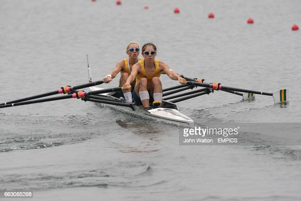 Australia's Amber Halliday and Marquerite Houston in the women's lightweight double sculls