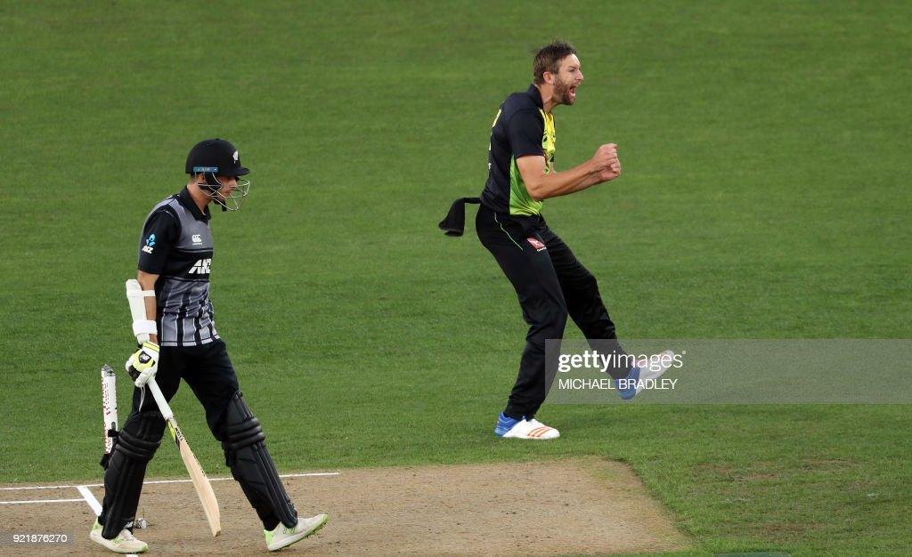 CRICKET-NZL-AUS : News Photo