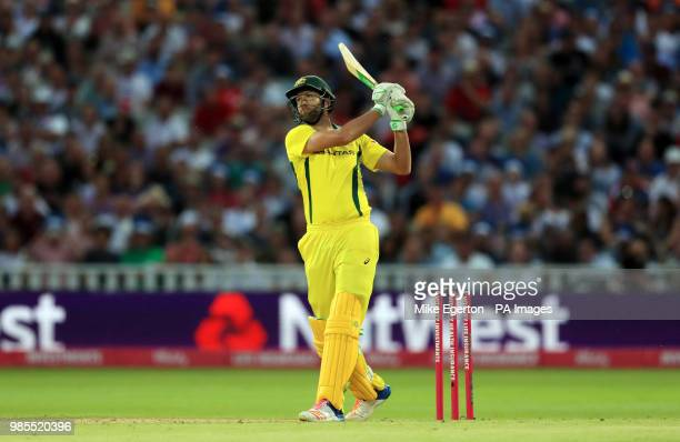 Australia's Andrew Tye during the Vitality International Twenty20 Match at Edgbaston Birmingham