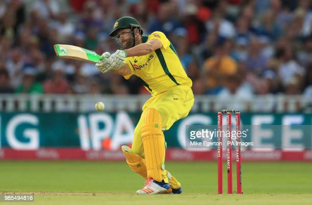 Australia's Andrew Tye hits out during the Vitality International Twenty20 Match at Edgbaston Birmingham