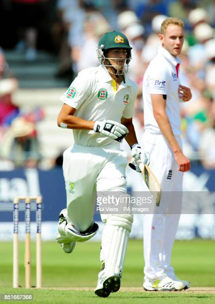 Australia's Ashton Agar during day two of the First Investec Ashes Test match at Trent Bridge, Nottingham.