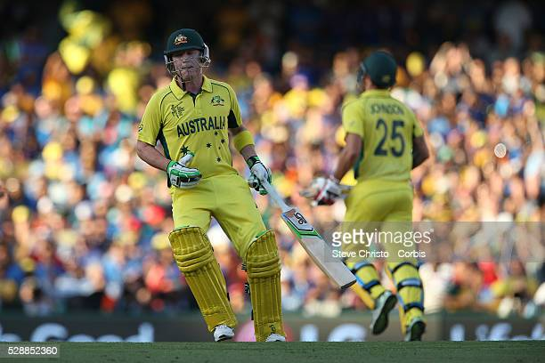 Australia's Brad Haddin runs between wickets against India at the Sydney Cricket Ground Australia Thursday 26th March 2015