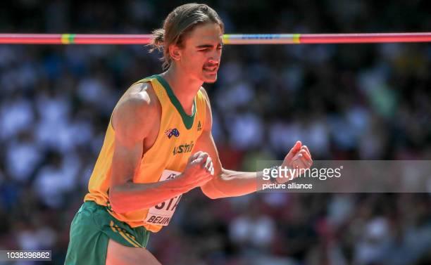 Australia's Brandon Starc competes at the High Jump Qualification at the 15th International Association of Athletics Federations Athletics World...