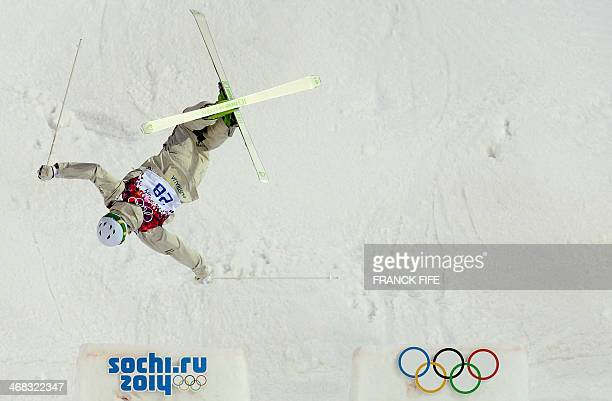 Australia's Brodie Summers competes in the Men's Freestyle Skiing Moguls qualifications at the Rosa Khutor Extreme Park during the Sochi Winter...