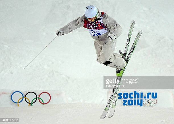 Australia's Brodie Summers competes in the Men's Freestyle Skiing Moguls finals at the Rosa Khutor Extreme Park during the Sochi Winter Olympics on...