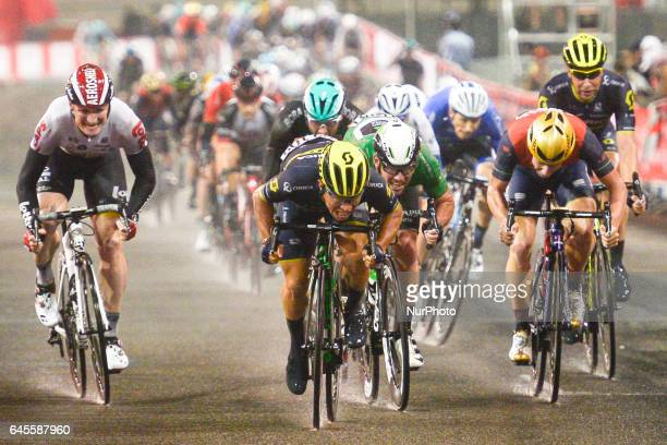 Australia's Caleb EWAN from OricaScott team wins the fourth stage a 143km Yas Island Stage at the F1 Yas Marina circuit On Sunday February 26 in Yas...