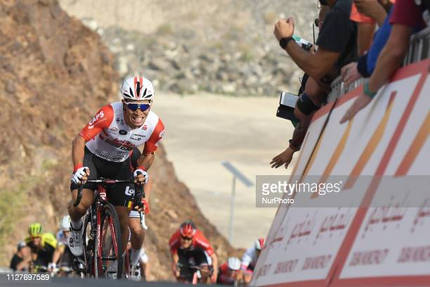 Australia's Caleb Ewans from Lotto Soudal Team wins Dubai Municipality Stage, 197km fourth stage of UAE Tour 2019, with a start from The Pointe -Palm...