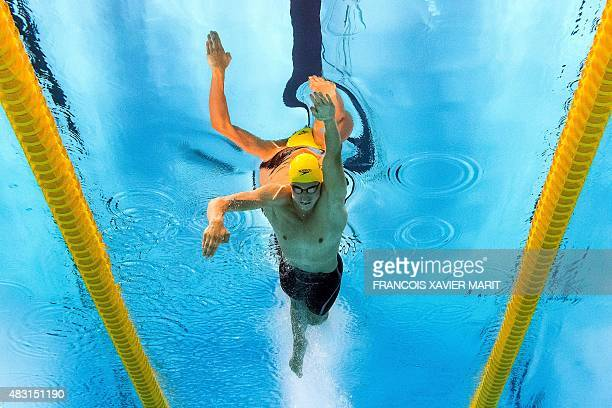 Australia's Cameron McEvoy competes in the final of the men's 100m freestyle swimming event at the 2015 FINA World Championships in Kazan on August 6...