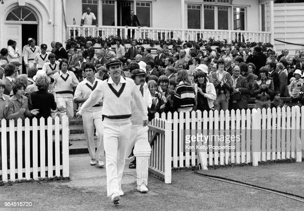 Australia's captain Greg Chappell leads his team onto the field at the start of day two of the 3rd Test match between England and Australia at Trent...