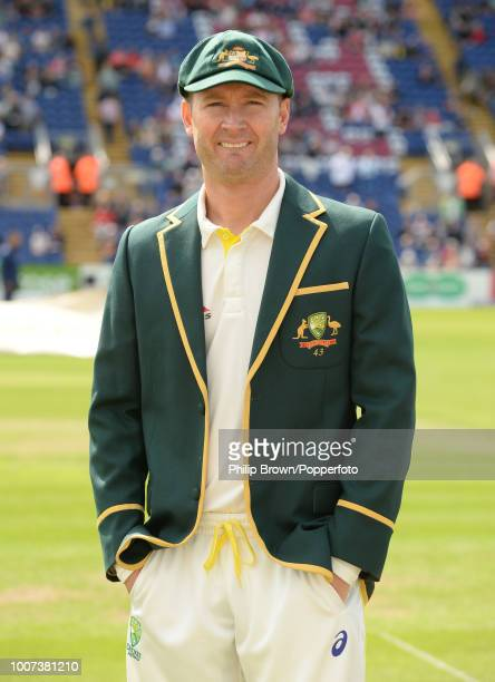 Australia's captain Michael Clarke after losing the toss before the 1st Ashes Test match between England and Australia at the Swalec Stadium Cardiff...