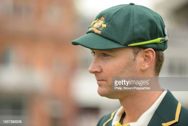 Australia's captain Michael Clarke waits for the coin toss before the 2nd Ashes Test match between England and Australia at Lord's Cricket Ground...