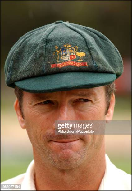 Australia's captain Steve Waugh waits to be interviewed after Australia win the 2nd Test match between Australia and England by an innings and 51...