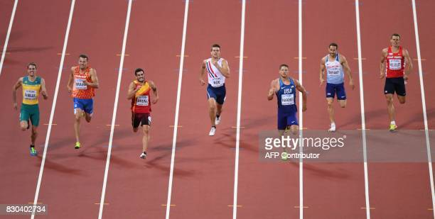 Australia's Cedric Dubler Netherlands' Pieter Braun Spain's Jorge Ureña Norway's Martin Roe US athlete Trey Hardee Britain's Ashley Bryant and Czech...