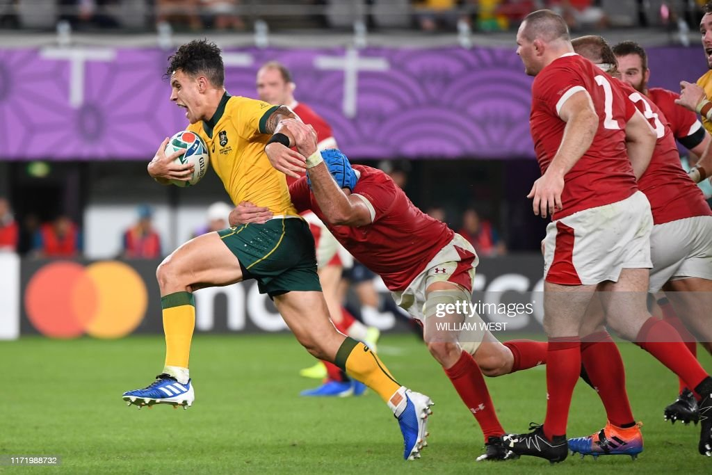 RUGBYU-WC-2019-MATCH17-AUS-WAL : News Photo