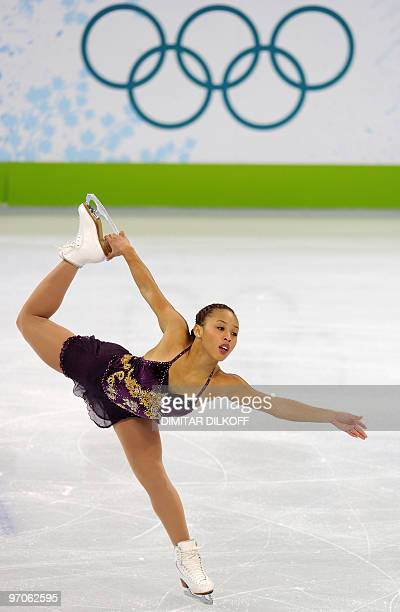 Australia's Cheltzie Lee competes in the Women's Figure Skating free program at the Pacific Coliseum in Vancouver during the XXI Winter Olympics on...