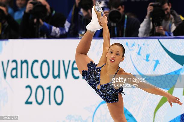 Australia's Cheltzie Lee performs in the Ladies' Figure Skating Short Program in Vancouver during the 2010 Winter Olympics on February 23 2010 AFP...