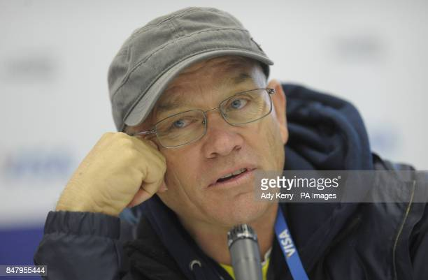 Australia's coach Rick Charlesworth during the Visa International Invitational Hockey Tournament at the Riverbank Arena London