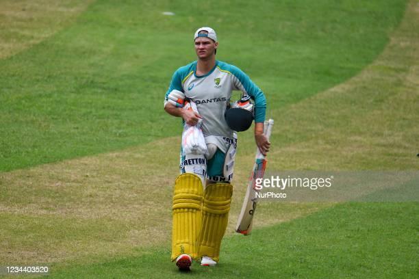 Australia's Cricket Player Josh Philippe during practice session at Sher e Bangla National Cricket Stadium in Dhaka, Bangladesh on August 2, 2021....