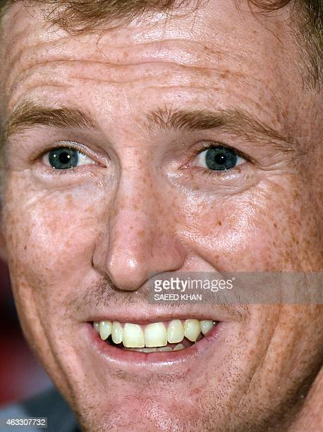 Australia's cricketer George Bailey speaks during a press conference one day ahead of their first match in the cricket 2015 World Cup at the...