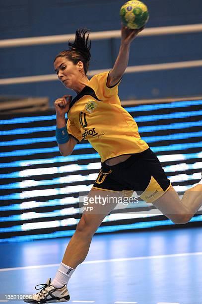 Australia's Danielle Cook shoots to score against South Korea during their Women's World Handball Championship match in Barueri,Sao Paulo state,...